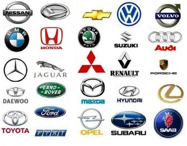 Страны производители авто со значками