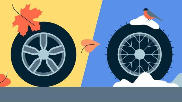 Есть два типа зимних шин